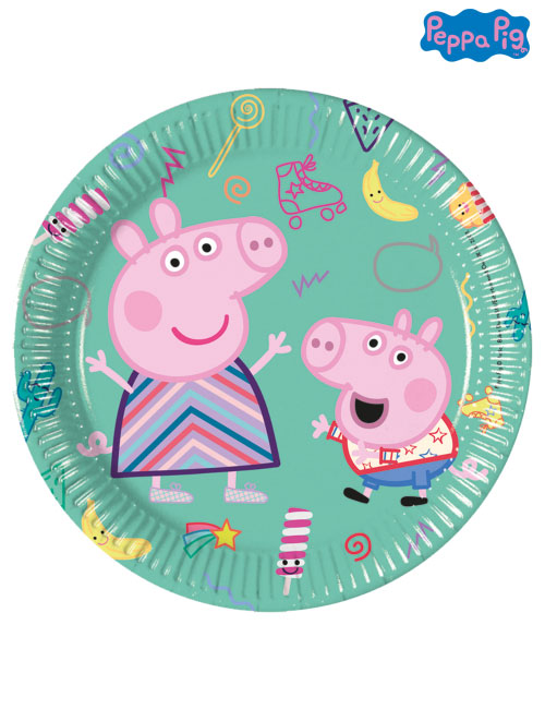 20cm Peppa Pig Party Plates