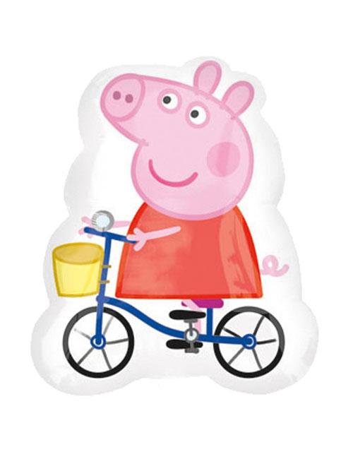 23 inch Peppa Pig on a Bike Balloon