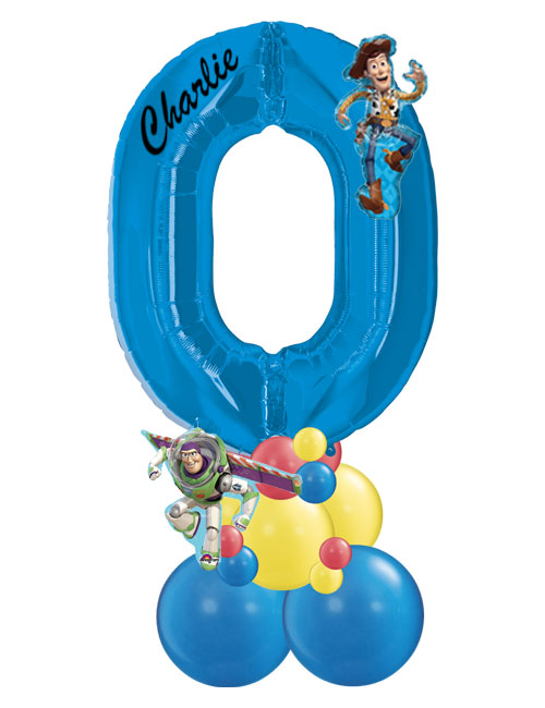 Blue Number Stack 0 Toy Story