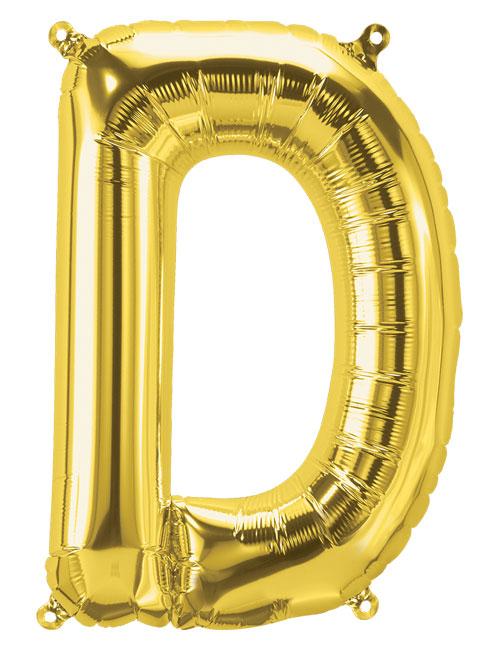 16 inch Gold Letter D