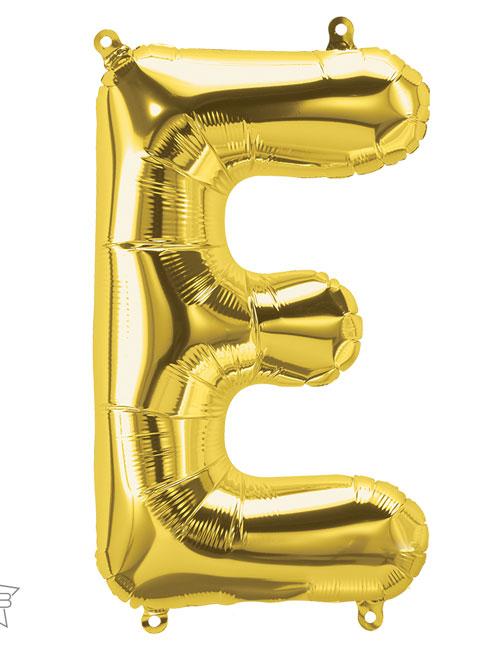 16 inch Gold Letter E