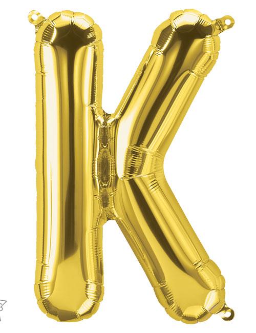 16 inch Gold Letter K