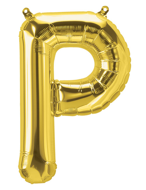 16 inch Gold Letter P