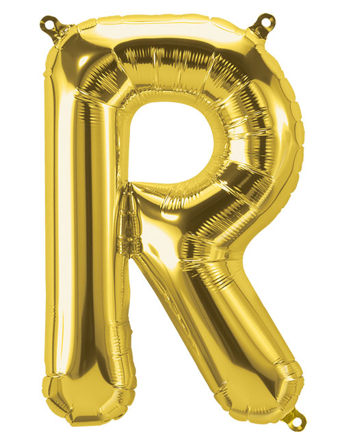 16 inch Gold Letter R
