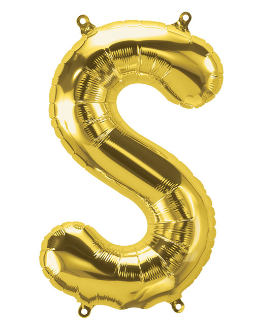 16 inch Gold Letter S