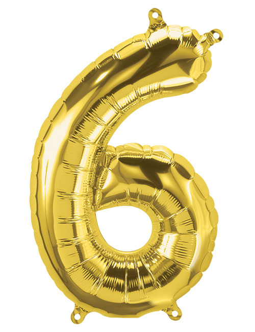 16 inch Gold Number 6