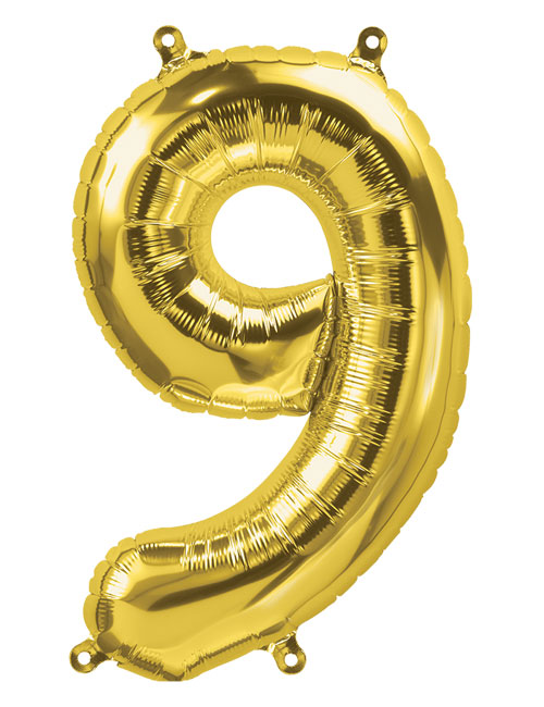 16 inch Gold Number 9