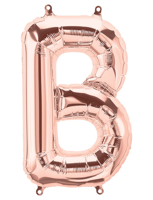 16 inch Rose Gold Letter B