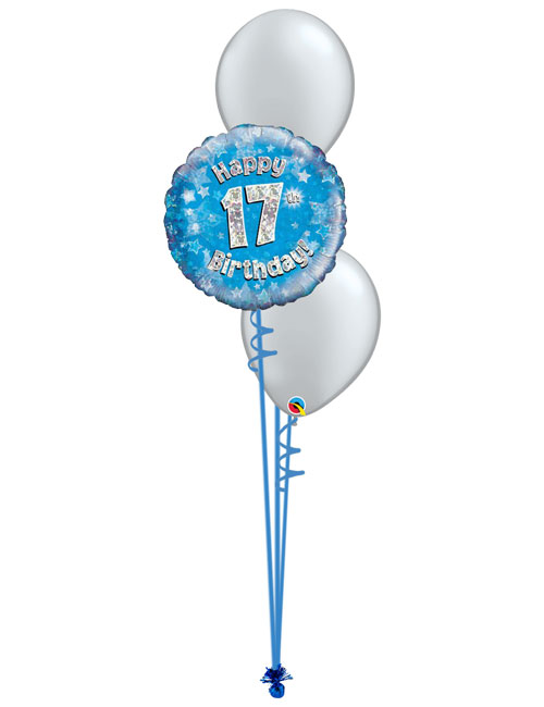 Blue Birthday Balloon Bouquet