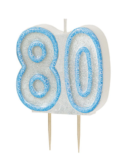 Blue Candle Number 80