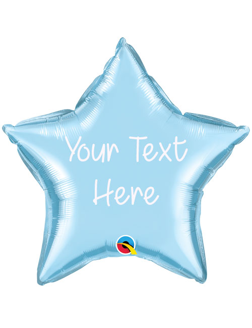 Light Blue Personalised Star