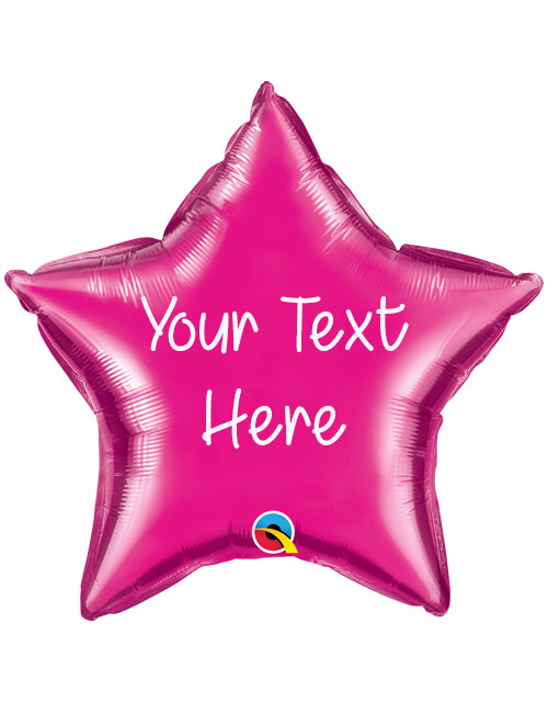 Magenta Personalised Star