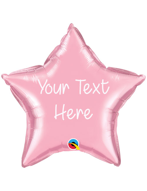 Pale Pink Personalised Star