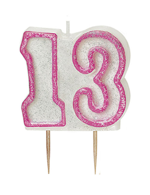Pink Candle Number 13