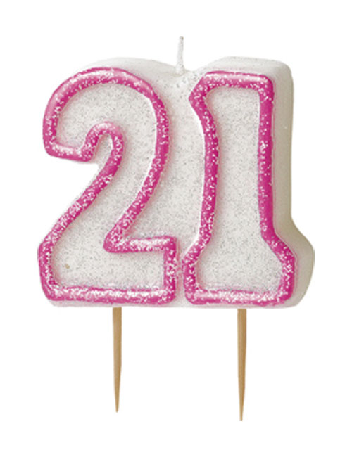 Pink Candle Number 21