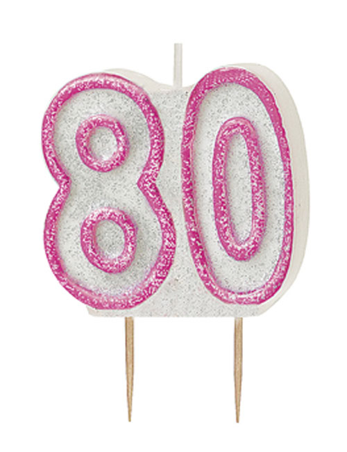 Pink Candle Number 80