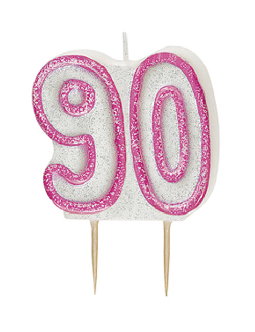Pink Candle Number 90