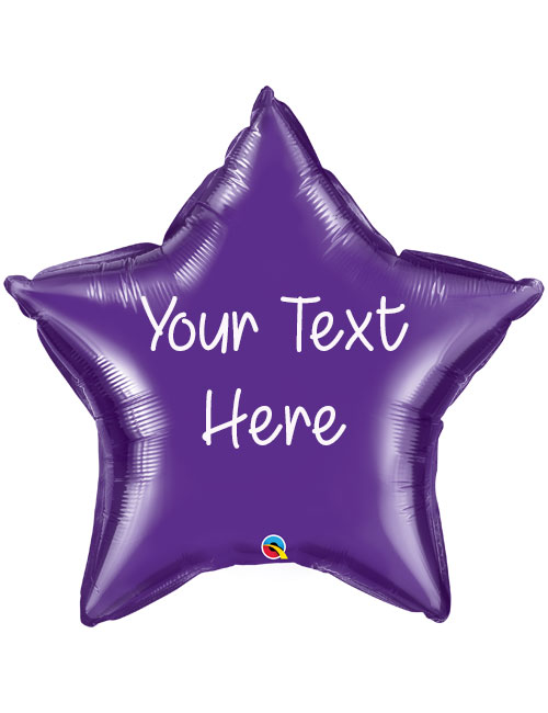 Purple Personalised Star
