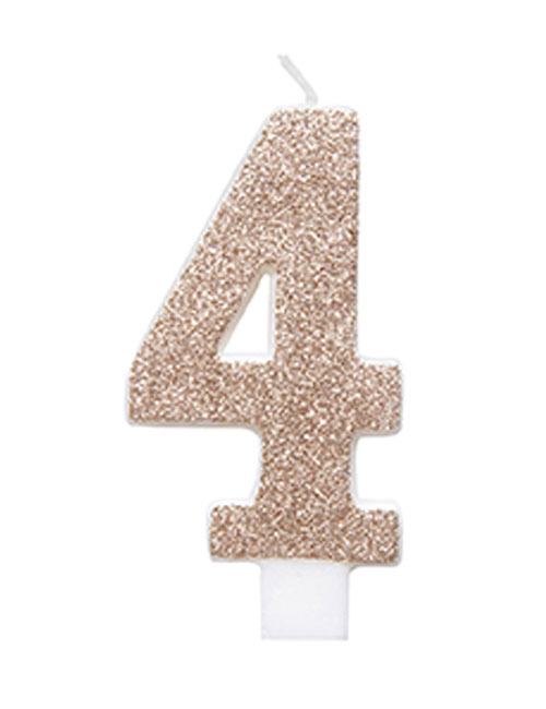 Rose Gold Glitter Candle 4