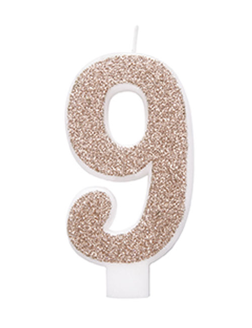 Rose Gold Glitter Candle 9