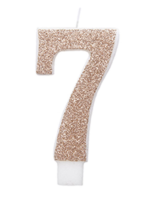 Rose Gold Glitter Candle 7