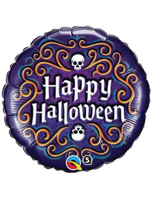 18 inch Happy Halloween Skeleton Balloon
