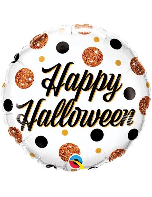 18 inch Sparkly Happy Halloween Balloon
