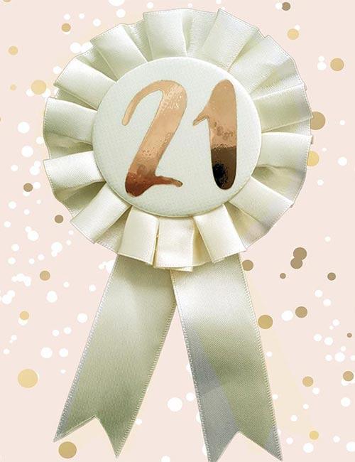 21st Rosette Cream