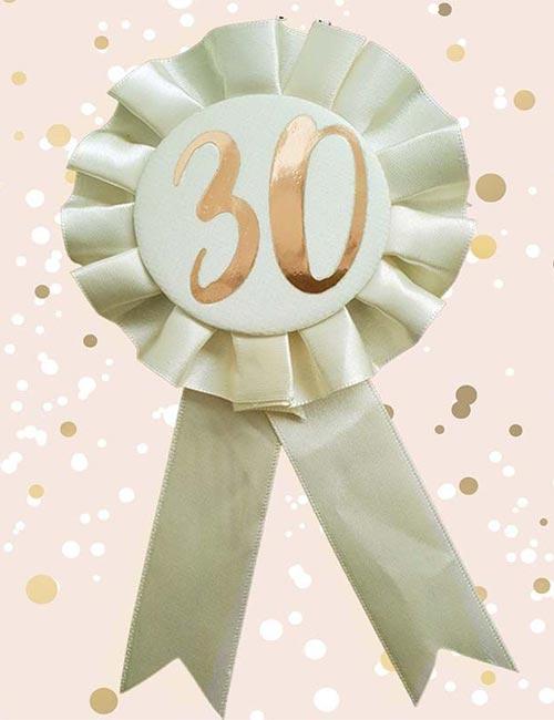 30th Rosette Cream