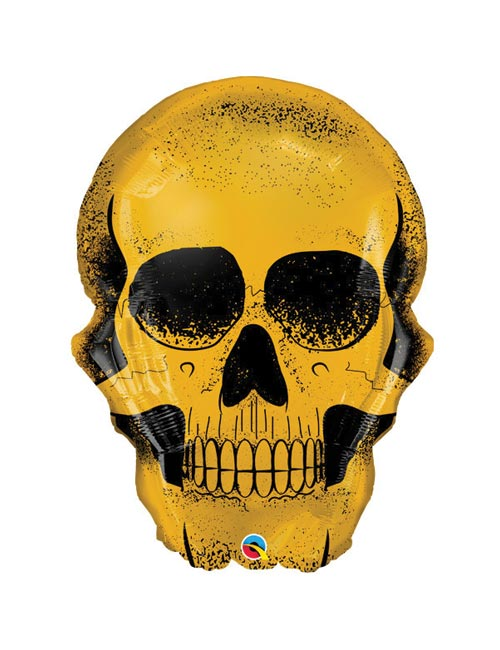 36 inch Golden Skull Balloon