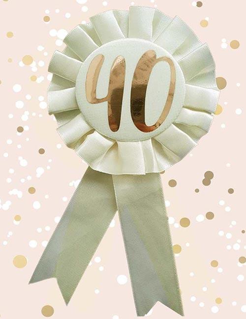 40th Rosette Cream