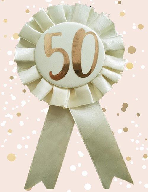 50th Rosette Cream