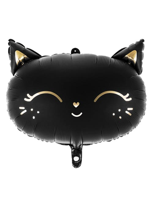 Black Cat Head Shape Balloon