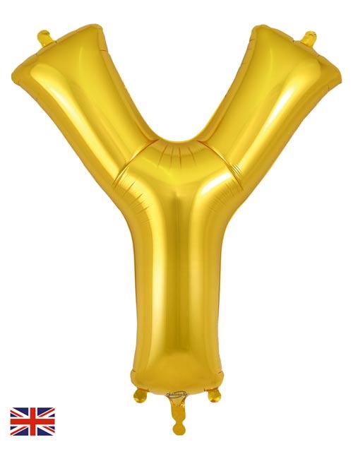 Gold Letter Y