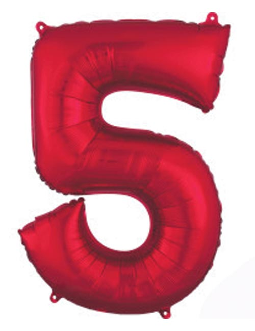 Red Number 5
