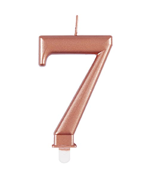 Rose Gold Candle Number 7