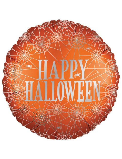"""18"""" Satin Happy Halloween Foil Balloon"""