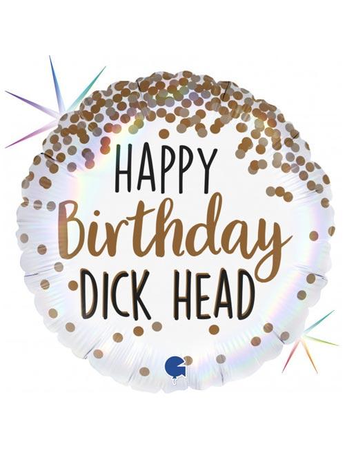18 inch Happy Birthday Dickhead
