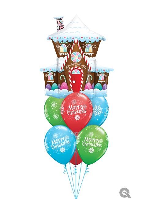 Gingerbread house Balloon Bouquet
