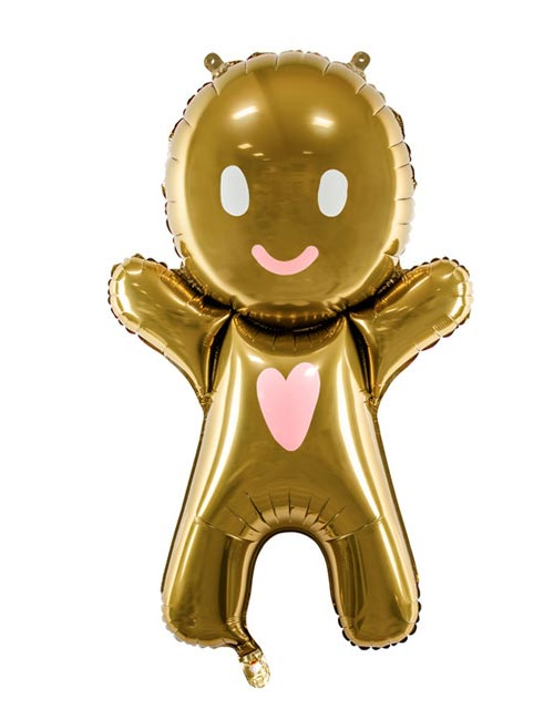 Gingerbread man Airfill balloon