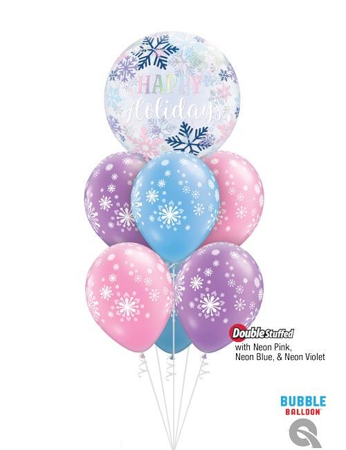 Happy Holidays Bubble Bouquet