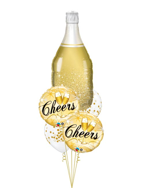 Gold Champagne Bottle Bouquet