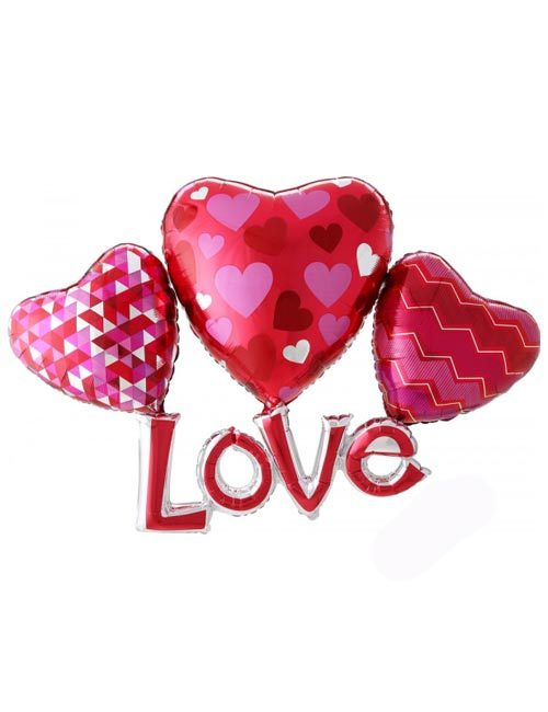 Floating Love Multi Balloon Shape