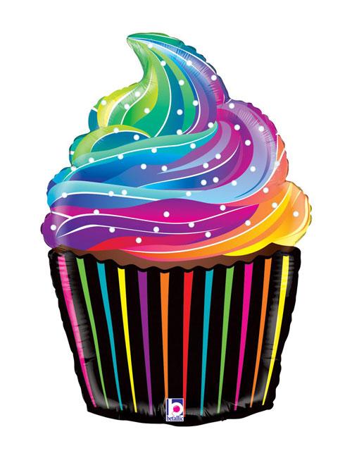 27 inch Rainbow Cupcake