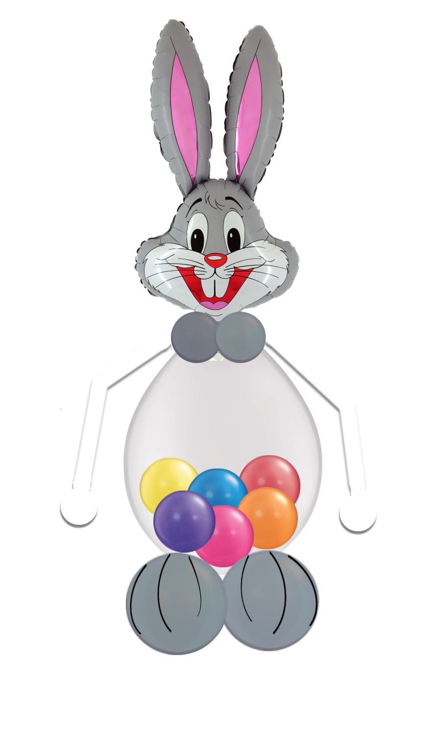 Easter Bunny Balloon Grey