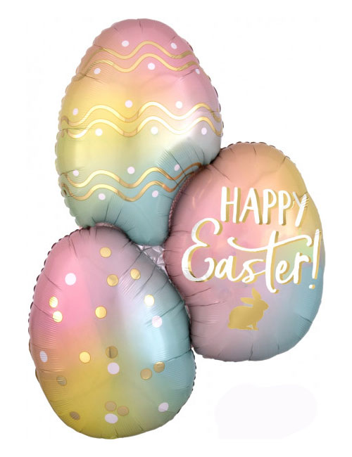 Ombre Easter Eggs Shape