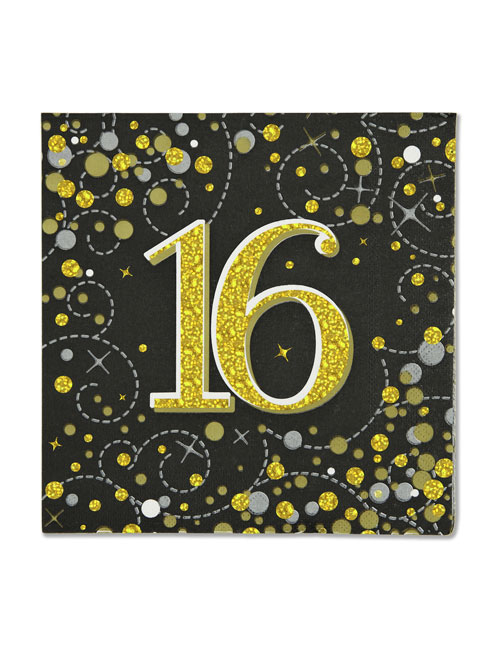16th Black Napkins