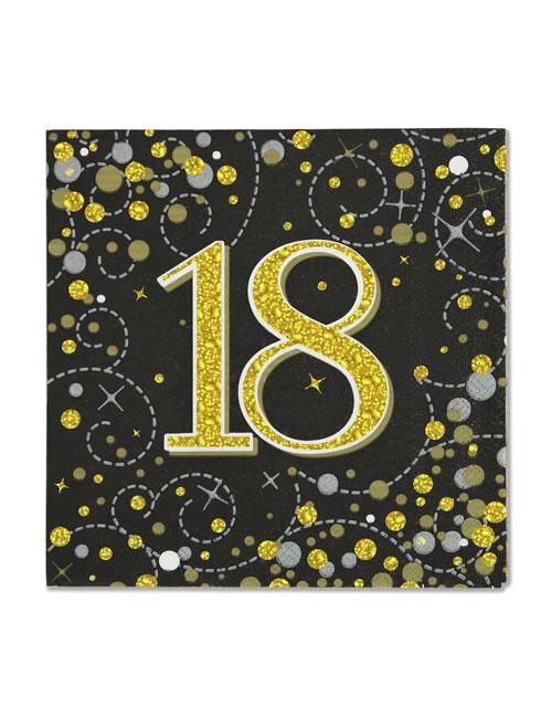 18th Black Napkins