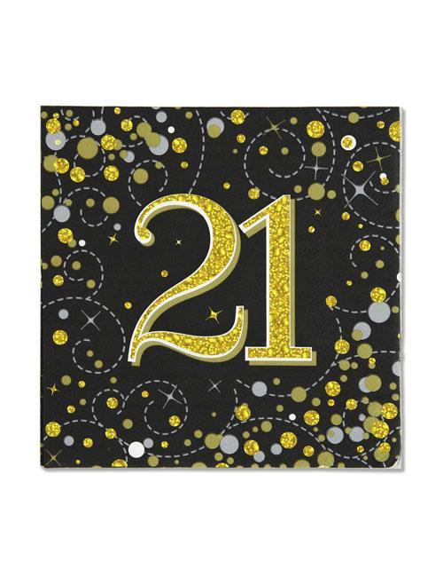21st Black Napkins