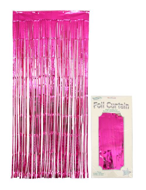 Foil Curtain Fuschia